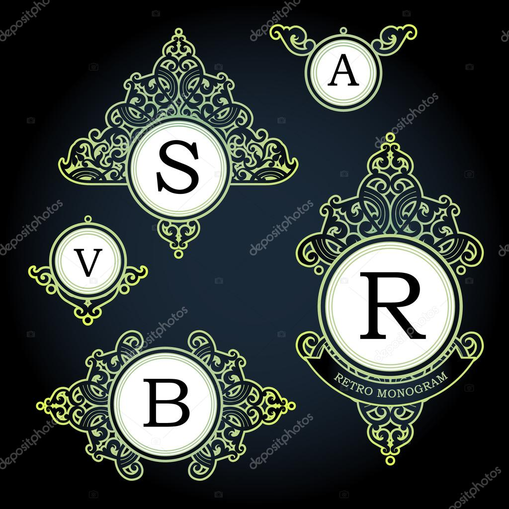 Logo-Vorlage im viktorianischen Stil — Stockvektor © AnnaPoguliaeva ...