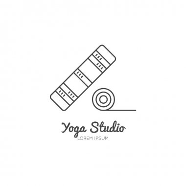 Single logo with a yoga mat
