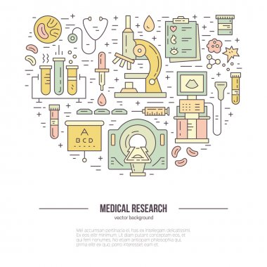 illustration with medical research items