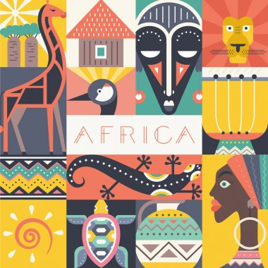 Conceptual illustration of Africa