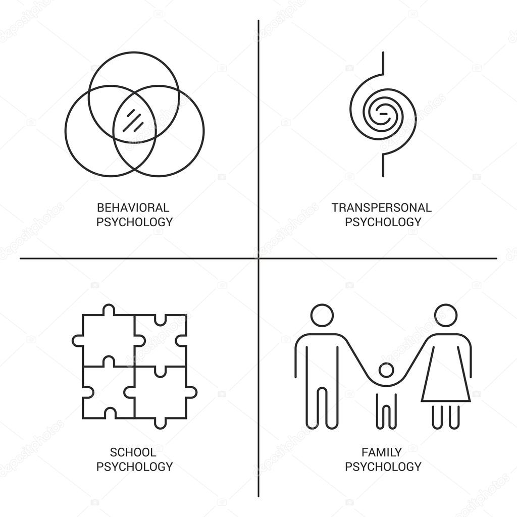 Psychology Logo Icons Stock Vector Favetelinguis199 105211754