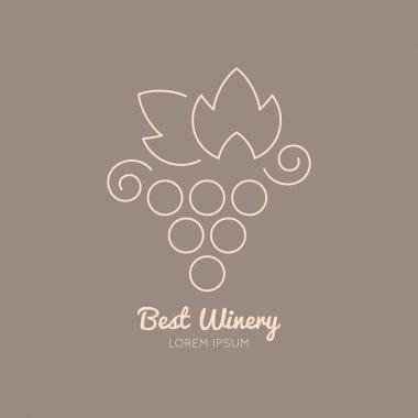 Wine logo with grape