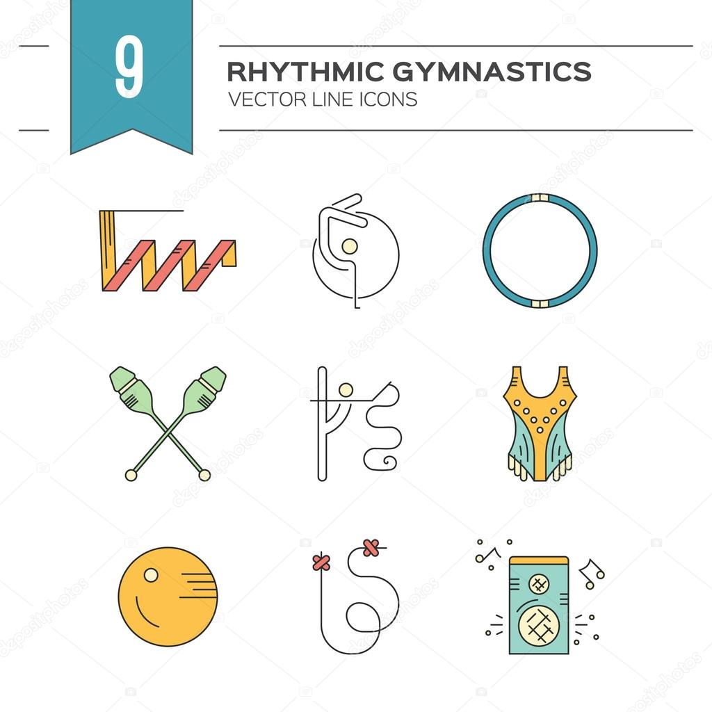 Rhythmic Gymnastics Icons Stock Vector Favetelinguis199 112157254