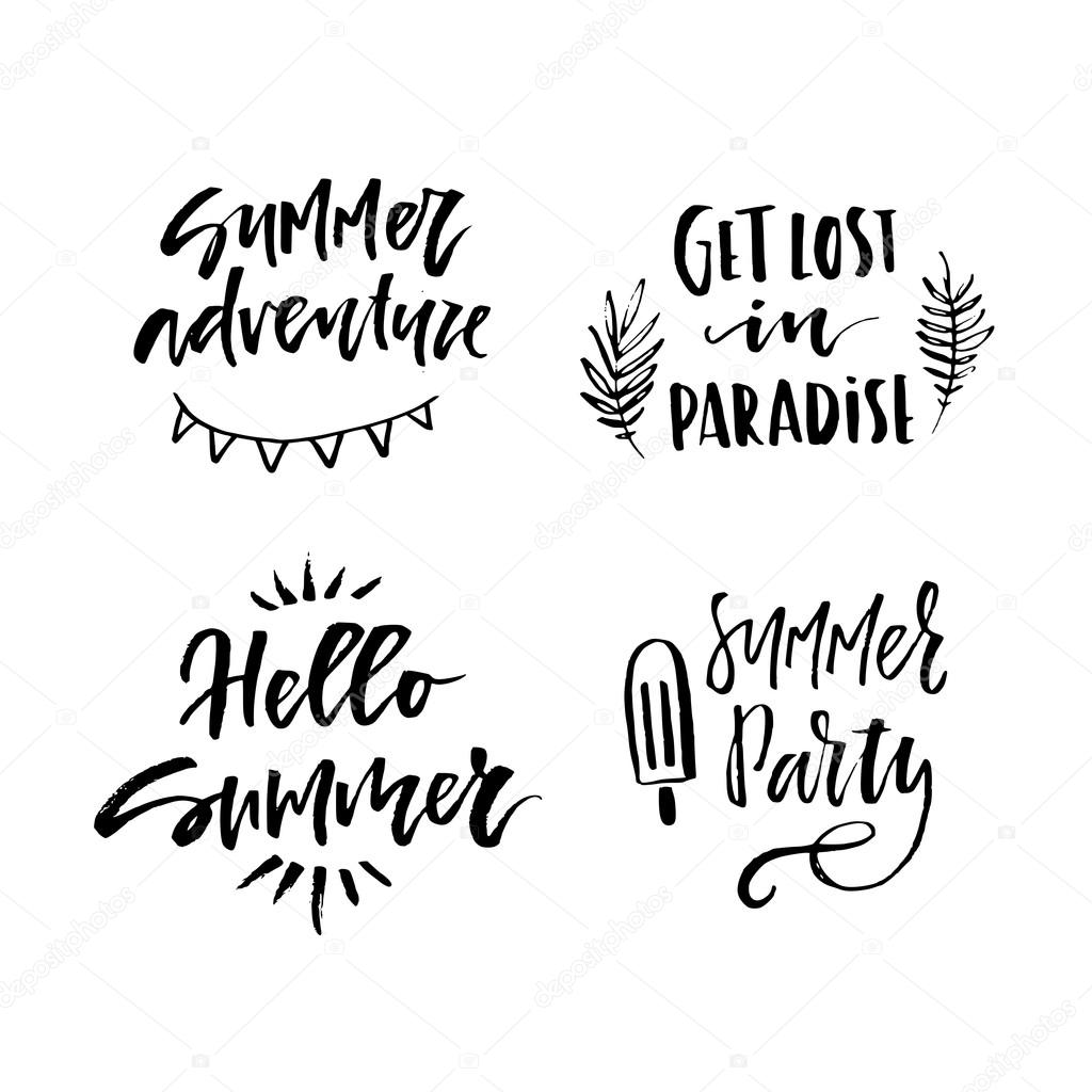 hand lettering for summer vacation stock vector favetelinguis199