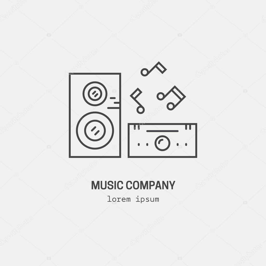 music station logo stock vector favetelinguis199 118355812
