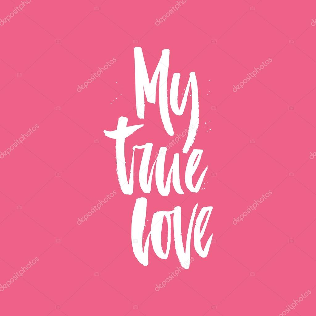 My true love lettering stock vector favetelinguis199 118356362 my true love lettering stock vector thecheapjerseys Image collections