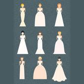 brids v svatební šaty