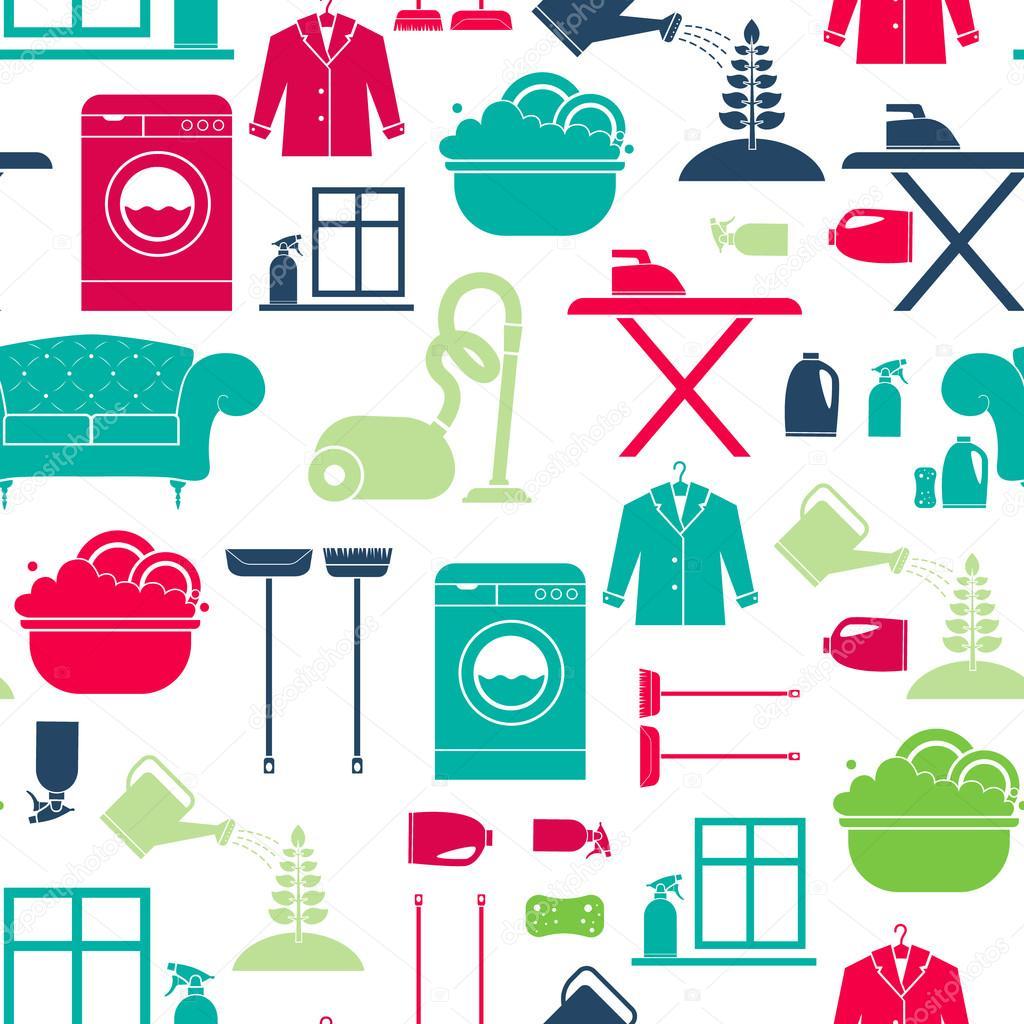 fondo transparente con artículos de limpieza de la casa — Archivo ...