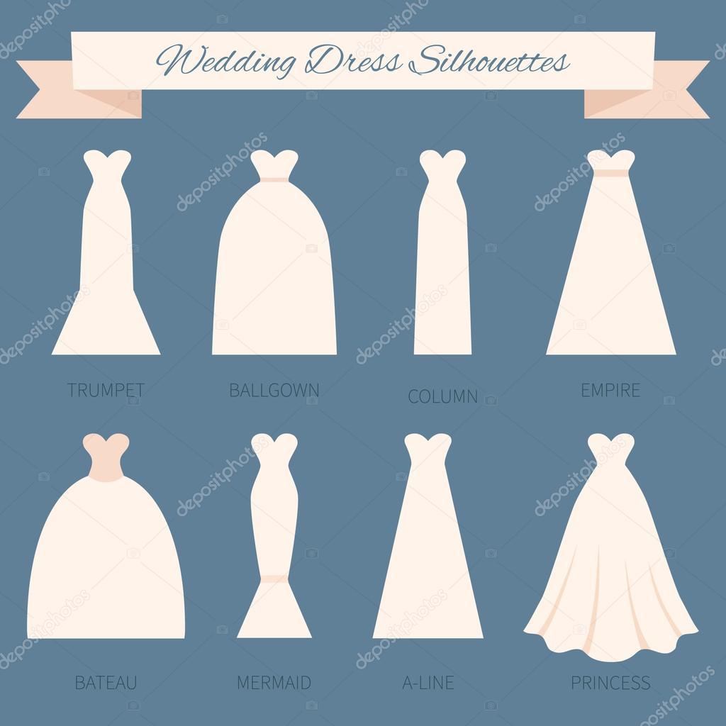 el estilo del vestido de boda — Vector de stock © Favetelinguis199 ...