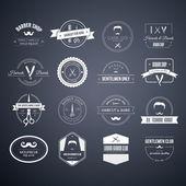 Fotografie Set of barber and haircut logos