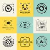 Fotografie Kolekce fotografie logo šablon