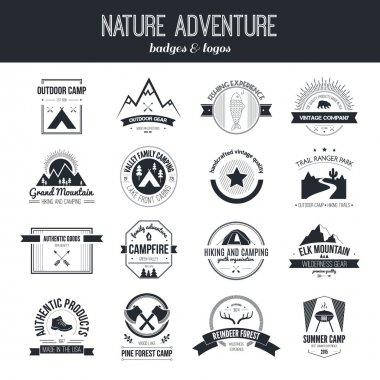 Camping icon logotypes