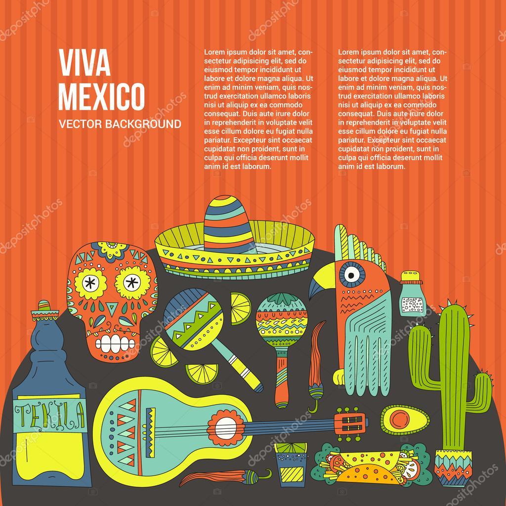 Kartenvorlage von Mexiko — Stockvektor © Favetelinguis199 #66250631