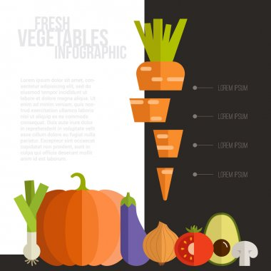 Fresh Vegetables Infographic