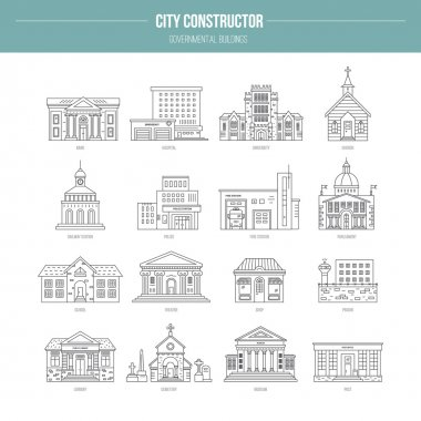 Governmental Buildings icons