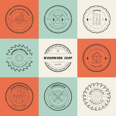 Timber Logos set