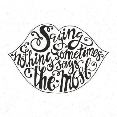 Lettering in lips Shape