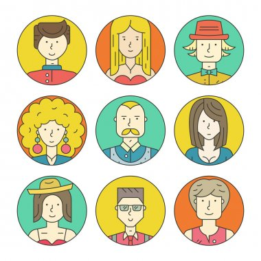 Linear People Icons