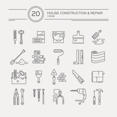 collection of house repair icons
