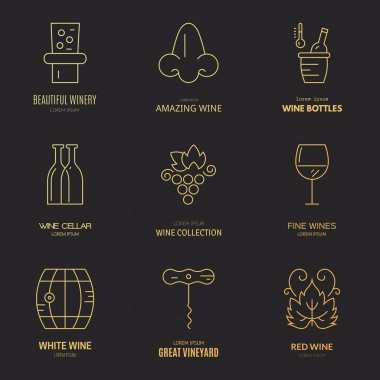 Wine logos and badges