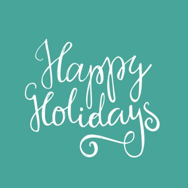 Happy Holidays typography poster
