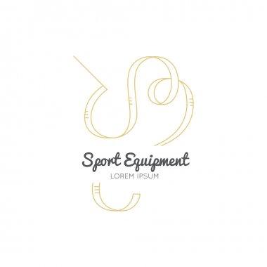 sport equipment Ribbon logo