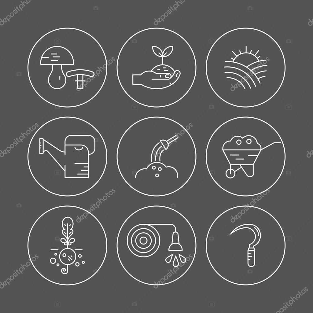 different agricultural Icons