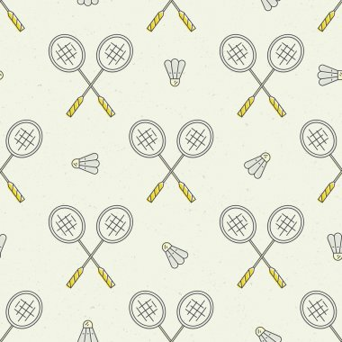 Badminton  seamless  Pattern