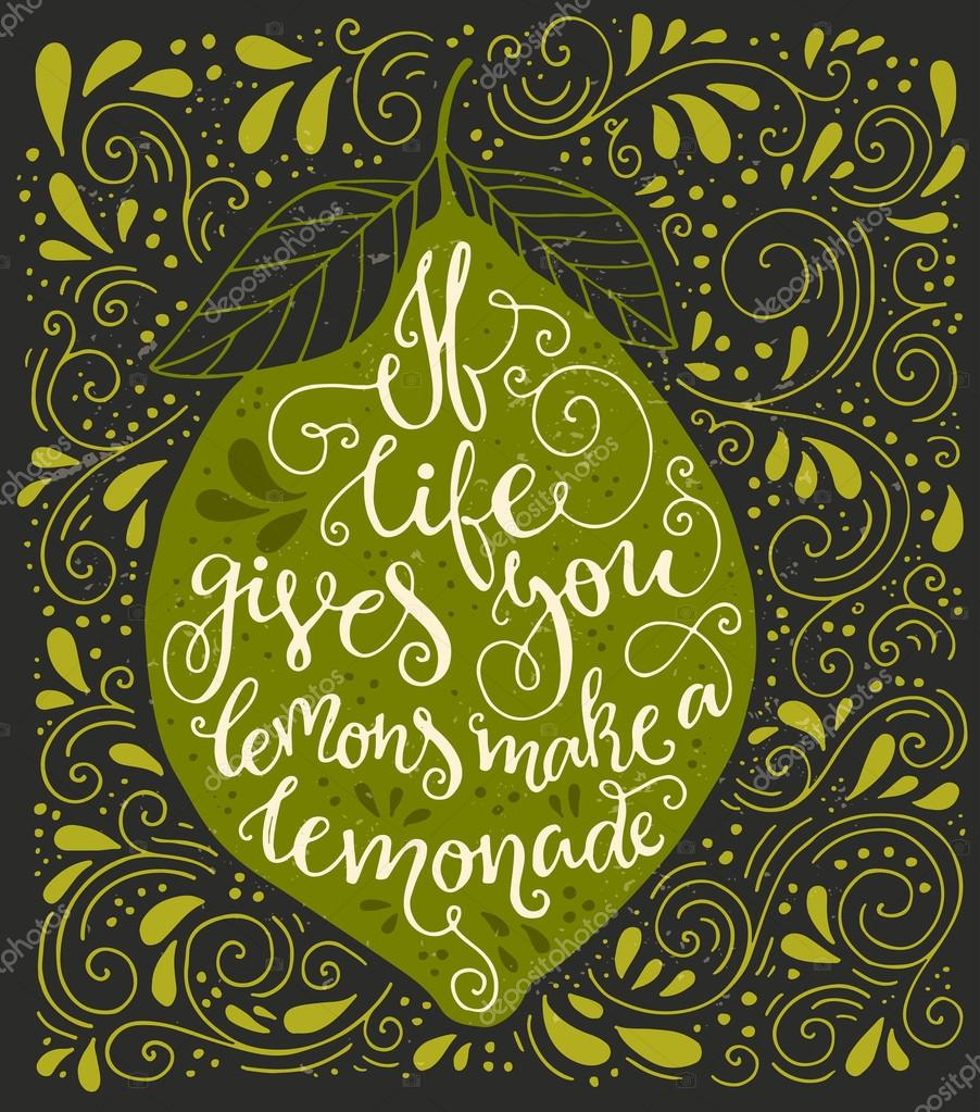If life gives you lemons make a lemonade stock vector handpainted quote if life gives you lemons make a lemonade great vintage illustration with real texture perfect illustration for t shirt greeting card m4hsunfo