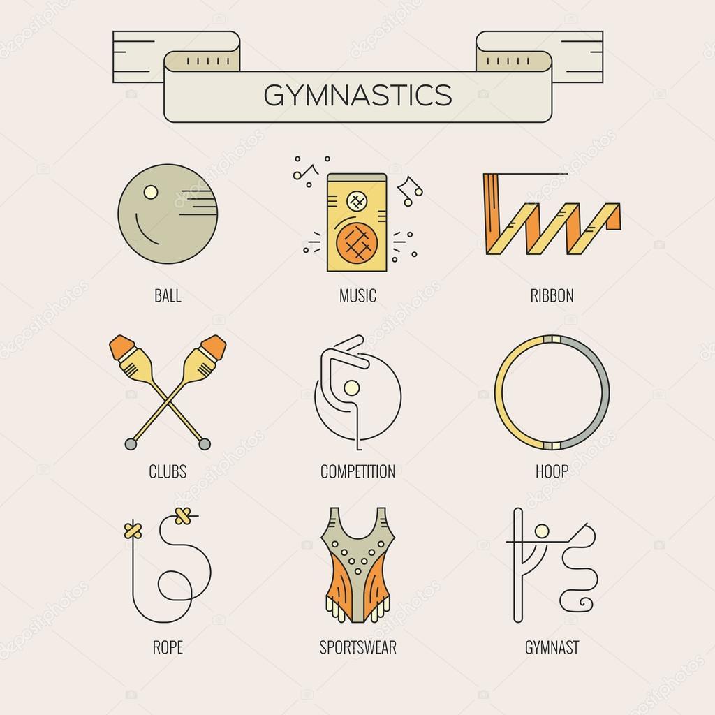 how to draw gymnastics equipment