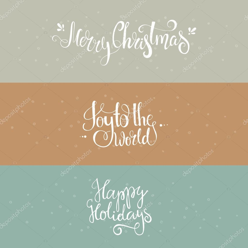 Christmas banners  with lettering