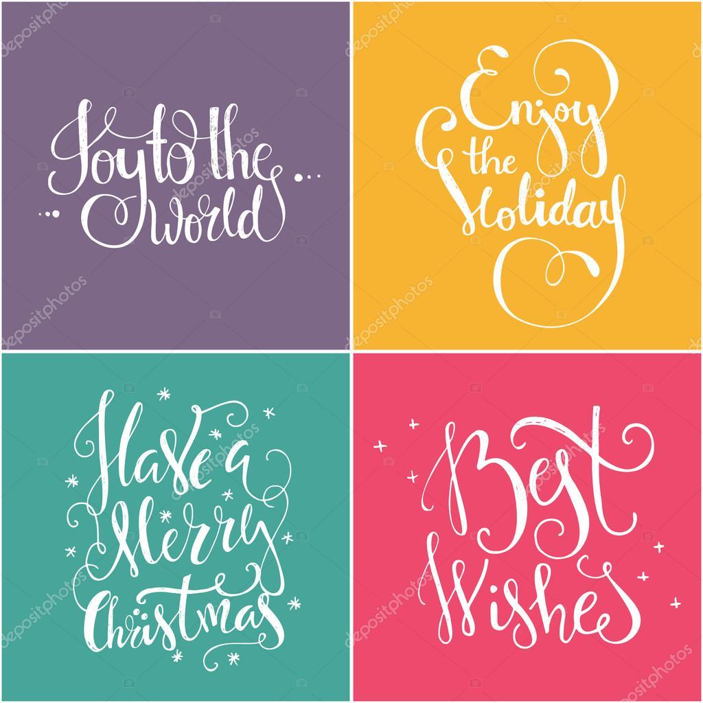 Citaten Voor Nieuwjaar : Kerstmis en nieuwjaar belettering citaten — stockvector