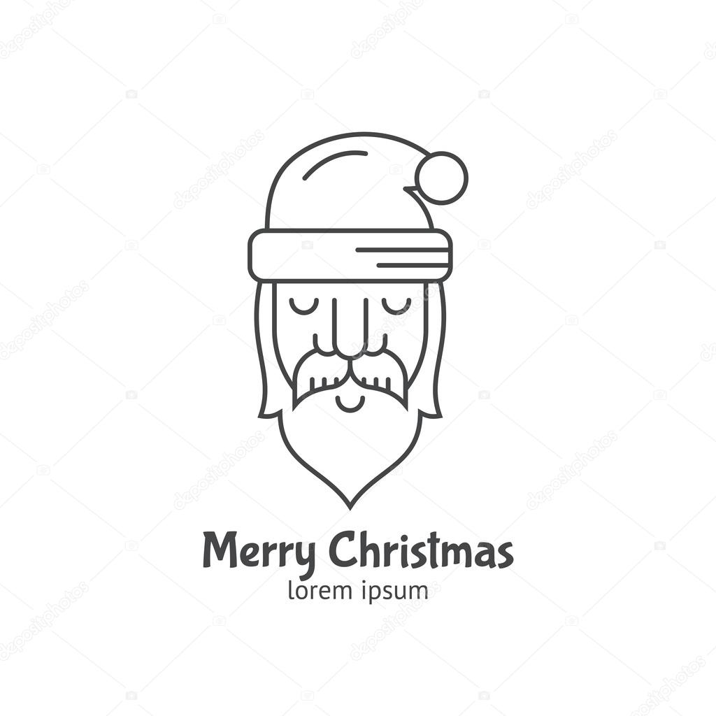 logotype template with Santa Claus — Stock Vector © Favetelinguis199 ...