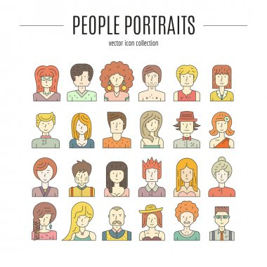 Modern avatars with different characters