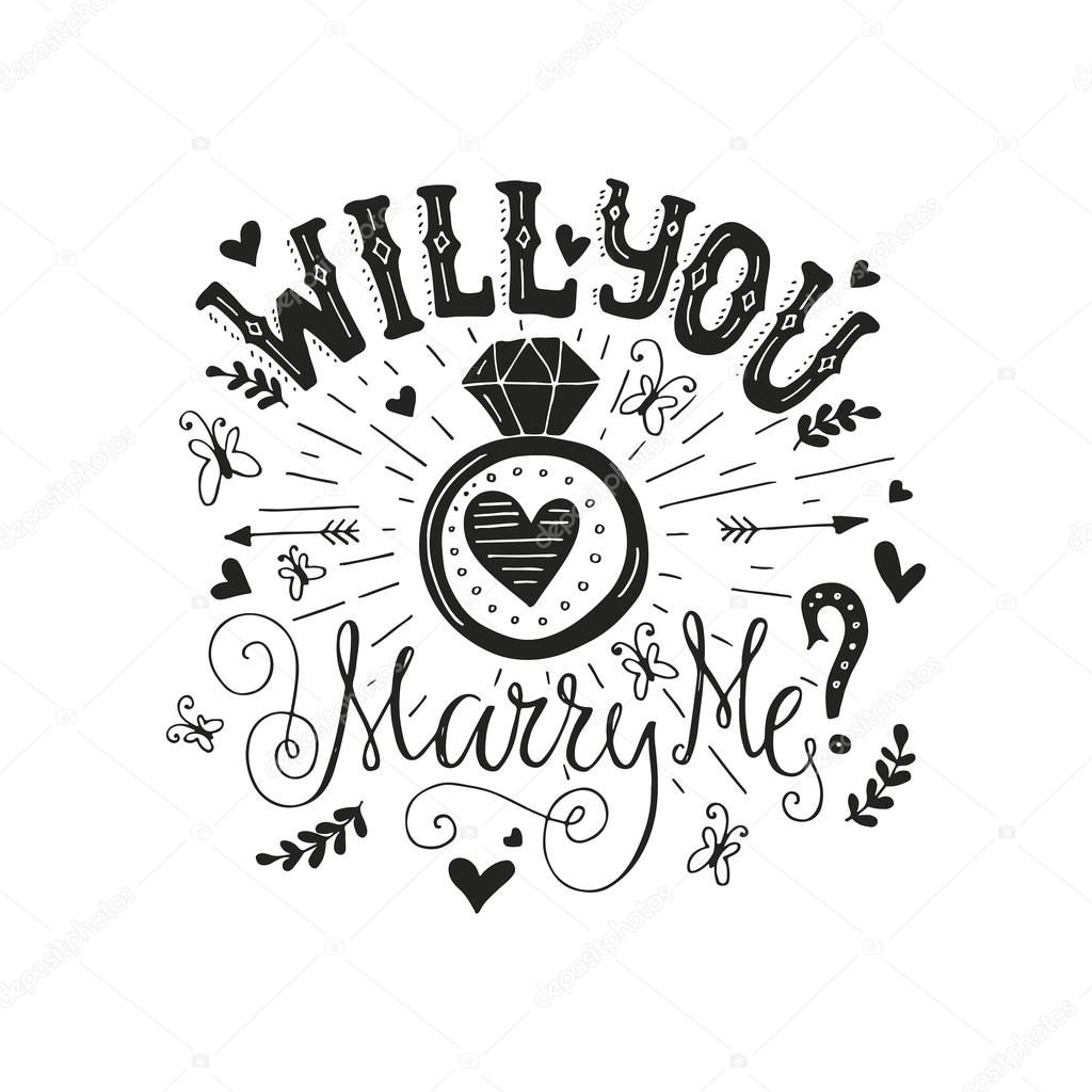 Will You Marry Me — Stock Vector