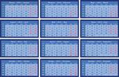 Mřížka kalendáře 2015 modrá