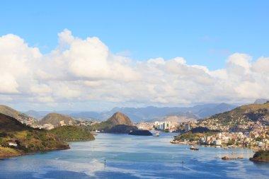 View of Vitoria, Vila Velha, bay, port, ships, Espirito Santo, B