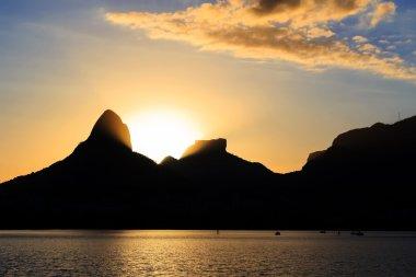 Sunset Lagoon Rodrigo de Freitas (Lagoa),  Rio de Janeiro, Brazi