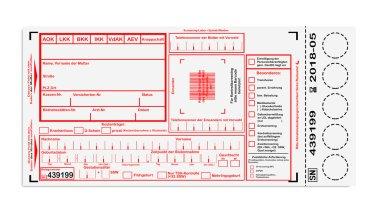 Blank card for newborn screening, in German: Guthrie Kaertchen