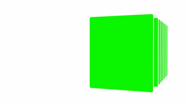 Egy egyszerű diavetítést. zöld háttér