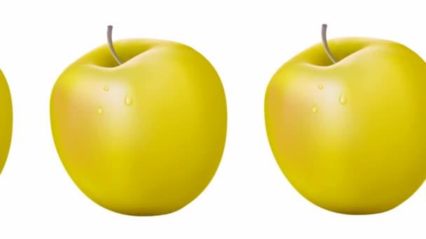 Červené a zelené jablko na bílém pozadí. Dieta