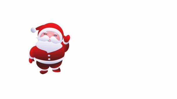 Santa claus. kellemes karácsonyi ünnepeket és boldog új évet