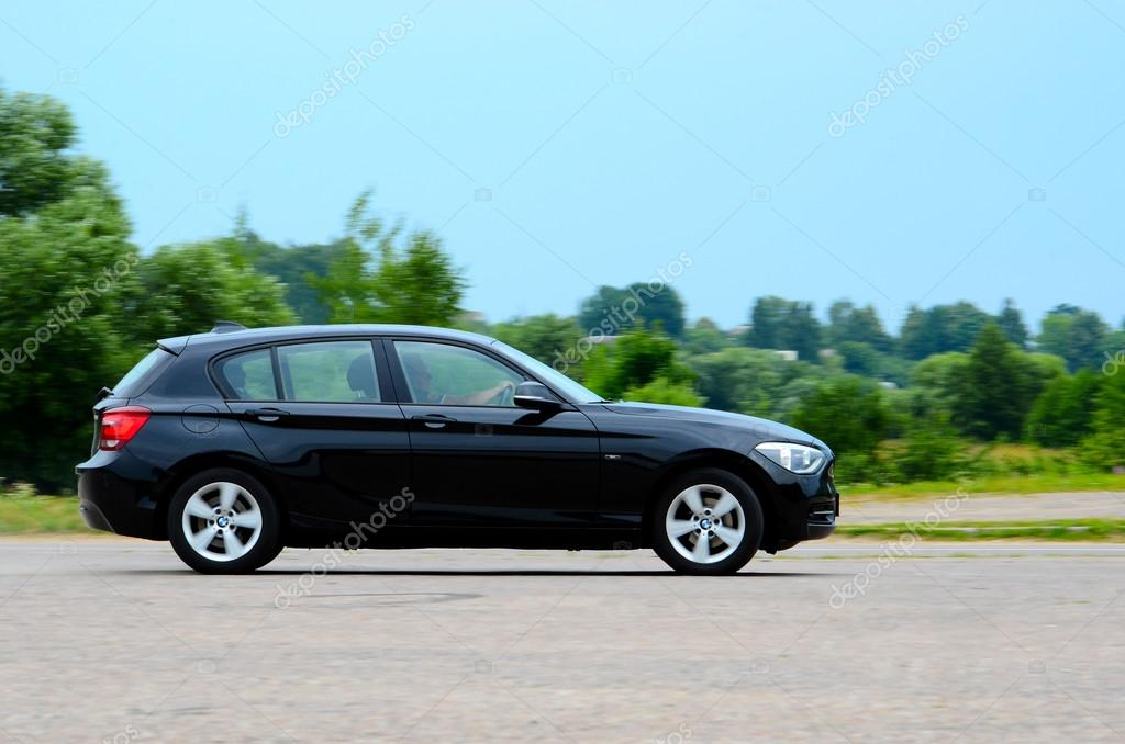 BMW 1-series at the test drive