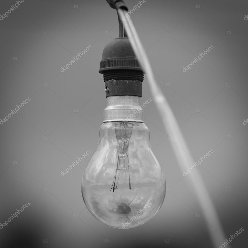 alte Lampe Licht mit schwarz-weiß-Effekt — Stockfoto © chaiyon021 ...