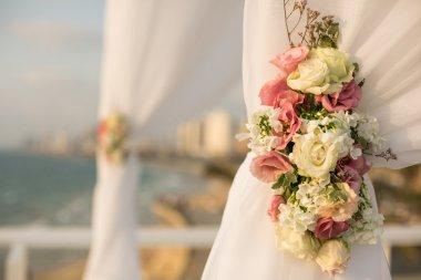 White wedding canopy