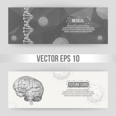 Abstract Creative concept vector background of the human brain. Polygonal design style letterhead and brochure for business. Vector Illustration eps 10 for your design.