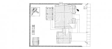 Modern beautiful house. Cottage design skech. 3D illustration