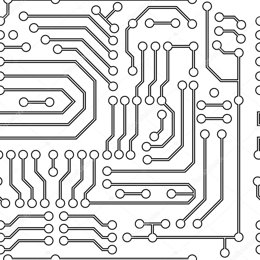 fondo de circuitos electr u00f3nicos  u2014 archivo im u00e1genes vectoriales  u00a9 vladimir
