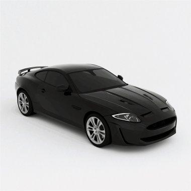 Very fast sport black car