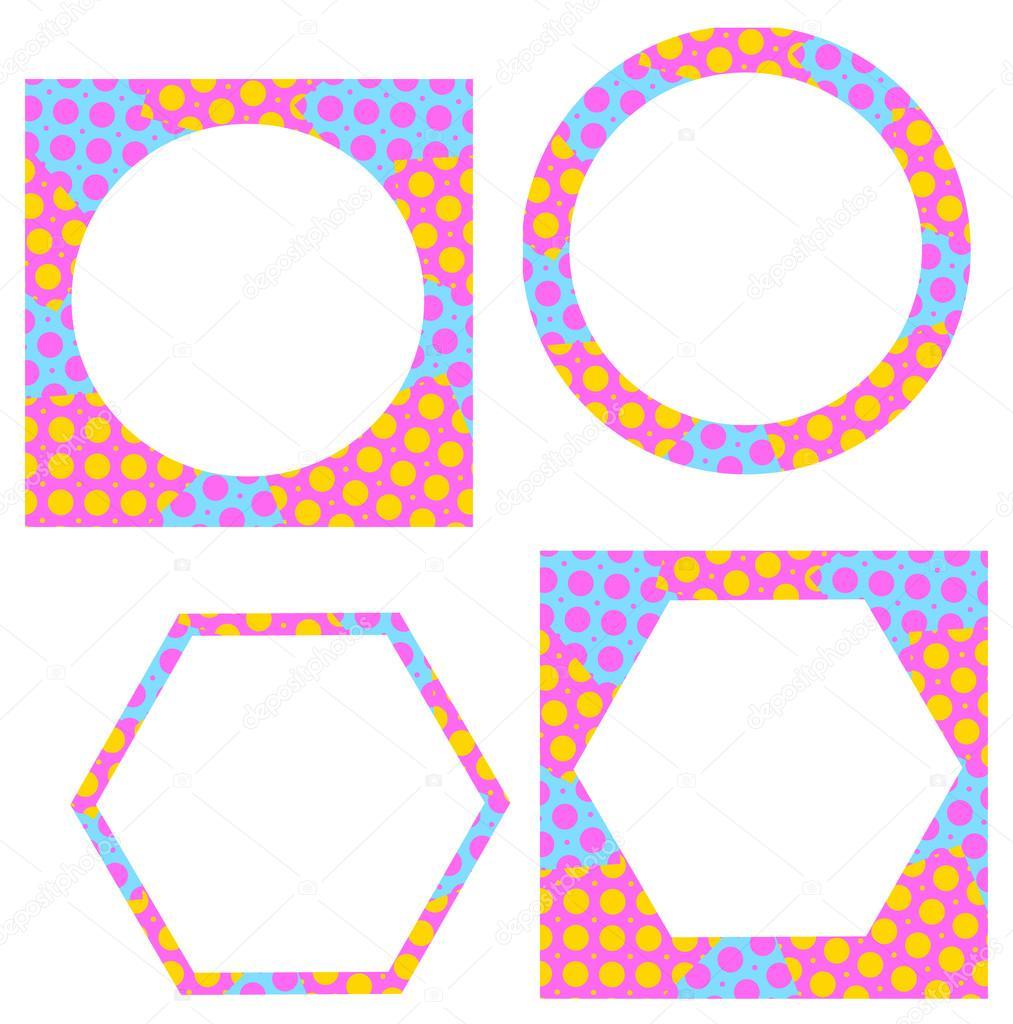 Nette Vektor-Rahmen. Vintage-Rahmen Set — Stockvektor © Vladimir ...